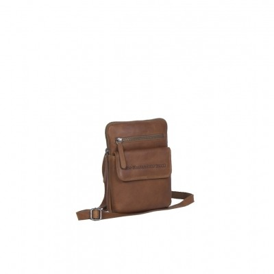 Leather Shoulder Bag Cognac Lou