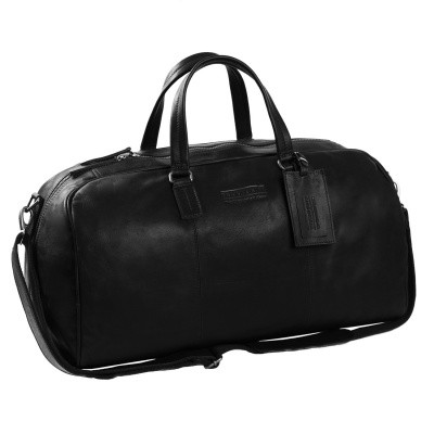 Photo of Leather Weekend Bag T1 Black Thomas Hayo