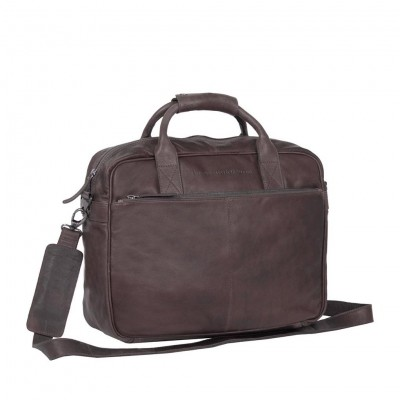 Leather Laptop Bag Brown Archer