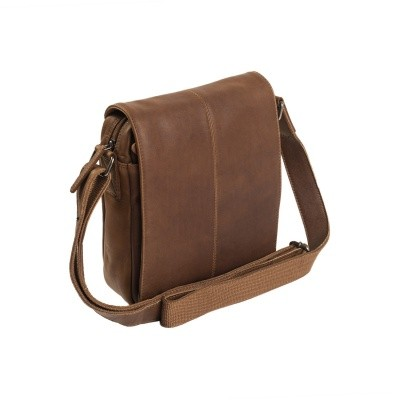 Leather Shoulder Bag Cognac Alin
