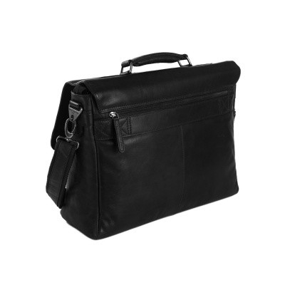 Photo of Leather Laptop Bag Black Belfast