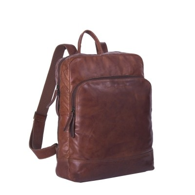 Leather Backpack Cognac Mack
