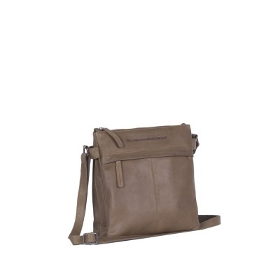 Leather Shoulder Bag Taupe Stella