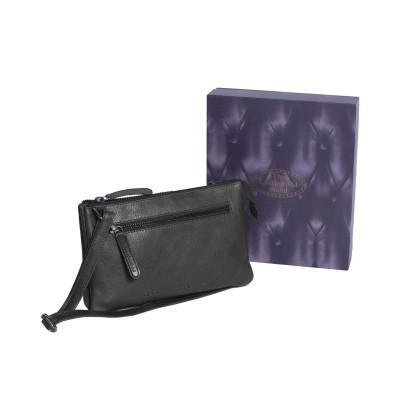 Leather Shoulder Bag Black Nia