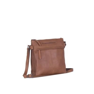 Leather Shoulder Bag Cognac Stella