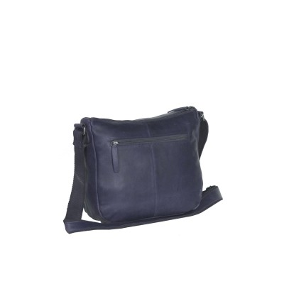 Photo of Leather Shoulder Bag Navy Monica