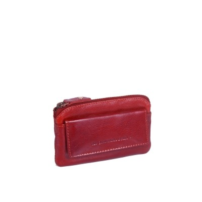Photo of Leather Key Pouch Red David