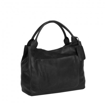 Leather Handbag Black Cardiff