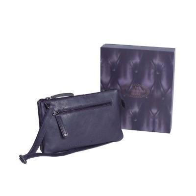 Photo of Leather Shoulder Bag Navy Nia