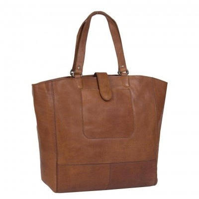 Leather Shopper Cognac Jaimy