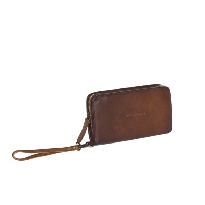 Leather Wallet Black Label Cognac Chloe