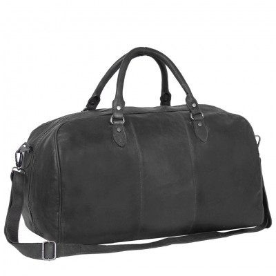 Foto von Leder Weekender Schwarz William