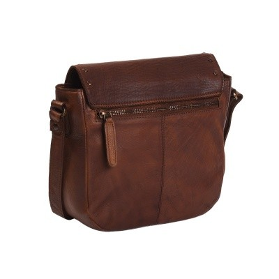 Photo of Leather Shoulder Bag Cognac Black Label Canvey