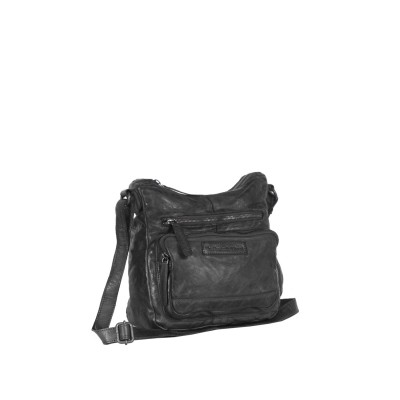 Leather Shoulder Bag Black Vicky