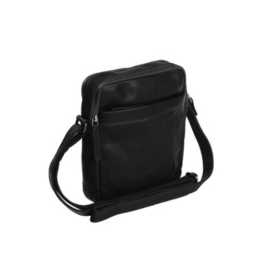Leather Shoulder Bag Black Alva