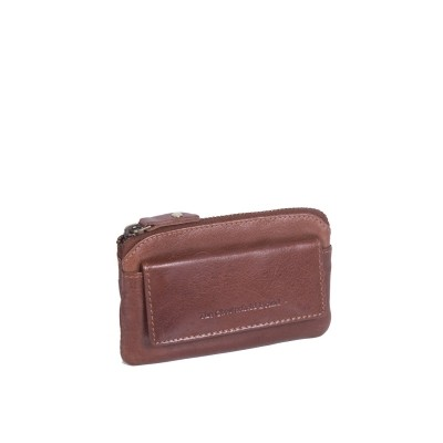 Leather Key Pouch Cognac David