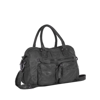 Leather Shopper Anthracite Noah