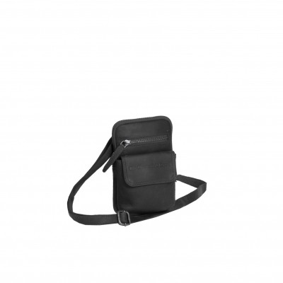 Leather Shoulder Bag Black Maya