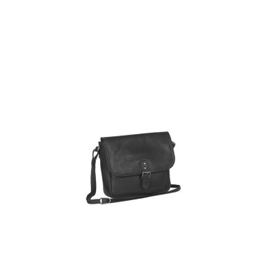 Leather Shoulder Bag Black Julius