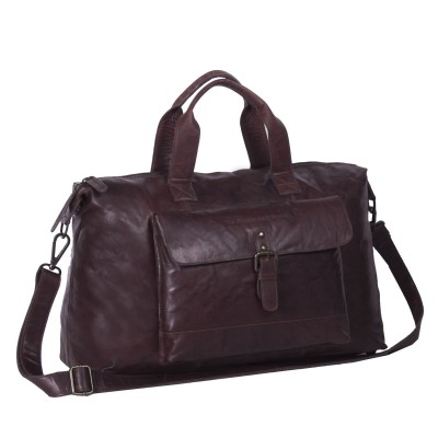 Leather Weekend Bag Brown Maeryn