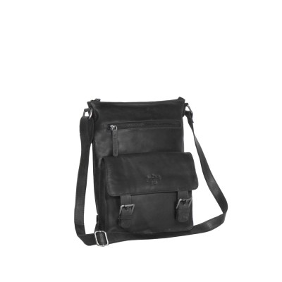 Leather Shoulder Bag Black Lucy