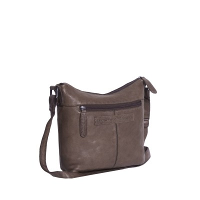 Photo of Leather Shoulder Bag Taupe Aliz