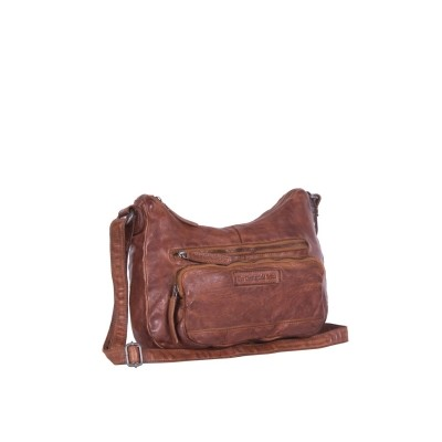 Leather Shoulder Bag Cognac Lena