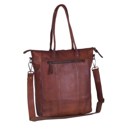 Foto van Leren Shopper Black Label Cognac Lily