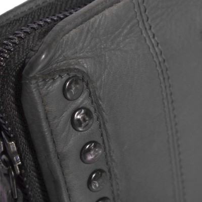 Foto von Leder Clutch Black Label Anthrazit Laiza