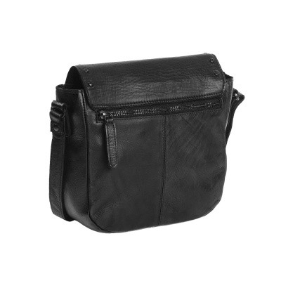 Photo of Leather Shoulder Bag Anthracite Black Label Canvey