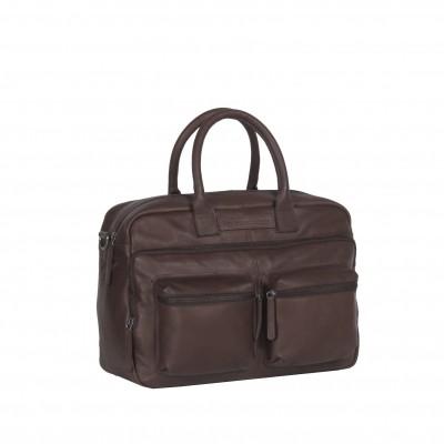 Leather Laptop Bag Brown Ruben