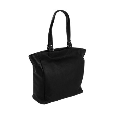 Leather Shopper Black Berlin