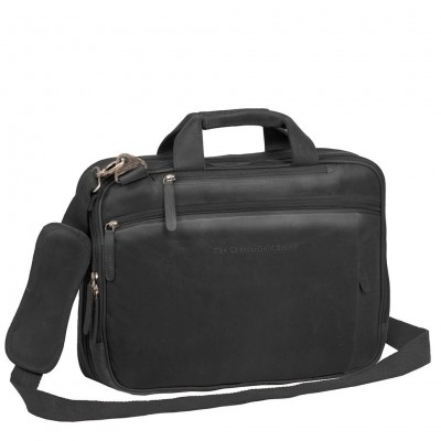 Photo of Leather Laptop Bag Black Roan