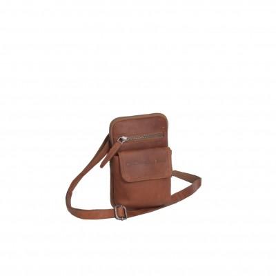 Leather Shoulder Bag Cognac Maya