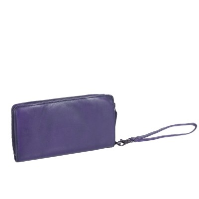 Photo of Leather Wallet Navy Black Label Inga