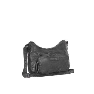 Leather Shoulder Bag Black Lena