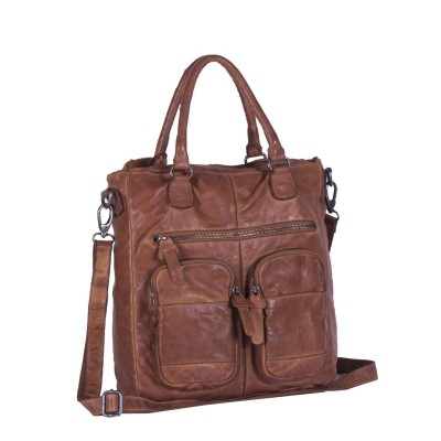 Leather Shopper Anthracite Olivia