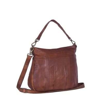 Leather Shoulder Bag Black Label Cognac Wendy