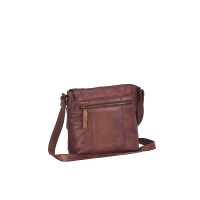 Photo of Leather Shoulder Bag Black Label Cognac Lois