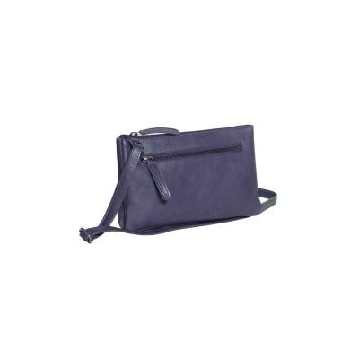 Leather Shoulder Bag Navy Nia
