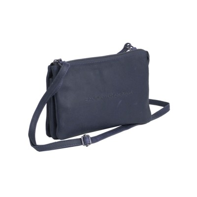 Leather Shoulder Bag Navy Julia