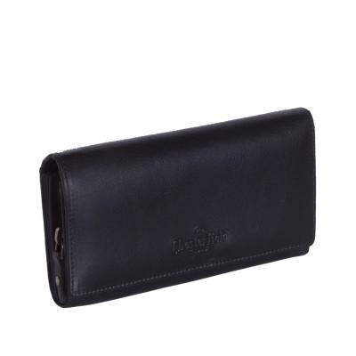 Leather Wallet Black Vilai