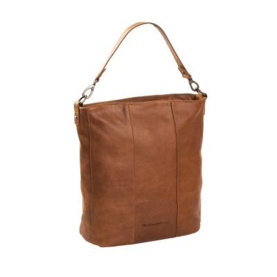 Leather Shoulder Bag Cognac Bruges