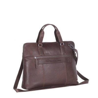Photo of Leather Laptop Bag Brown Hana