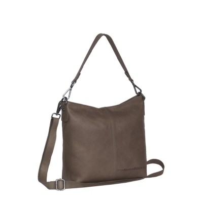Leather Shoulder Bag Taupe Jen