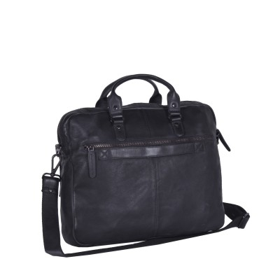 Photo of Leather Laptop Bag Anthracite Black Label Steve