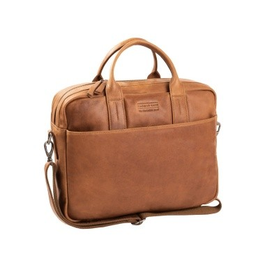 Photo of Leather Laptop Bag T7 Cognac Thomas Hayo