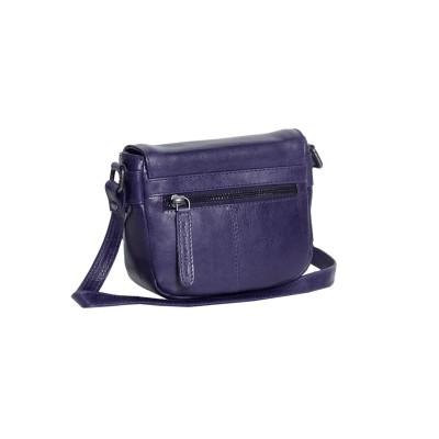 Photo of Leather Shoulder Bag Navy Ilse