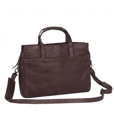 Leather Laptop Bag Brown Damian