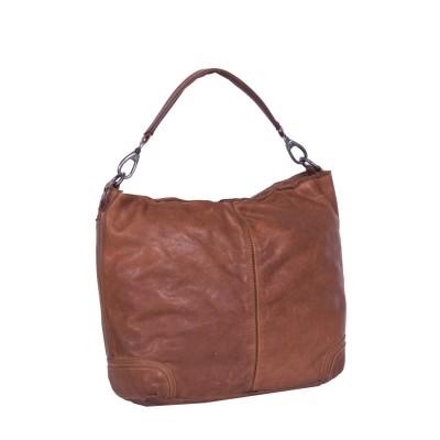 Leather Shoulder Bag Cognac Emma